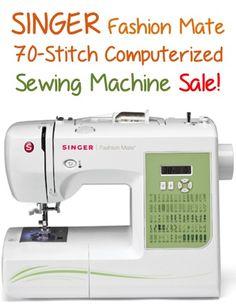 SINGER Fashion Mate 70-Stitch Computerized Sewing Machine Sale: $99.99 + FREE shipping!!