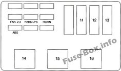 fuse box diagram (location and assignment of electrical fuses and relays)  for chevrolet (chevy) monte carlo