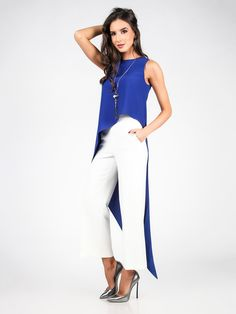 Dámsky Top CARLA BY ROZARANCIO #Dámsky_Top #women_top #blue_color #fashion_outfit #fashion_style #celebrity_style