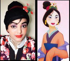 Mulan make up with hijab