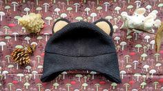 Black bear hat for kids- by wildimaginationshop on etsy