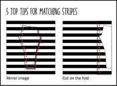 Tips for matching stripes when sewing.