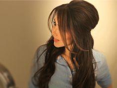 Learn how to make a voluminous, half-up, half--down updo, Brigitte Bardot hair style. Everyday hairstyles tutorial video for medium long hair. Wedding prom