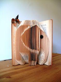Folded book elephant
