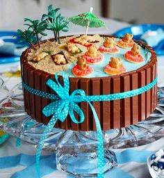 Beach party cake - might work better than the jello pool one