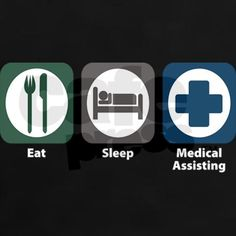 medical assistant shirt designs | assistant gifts assistant t shirts eat sleep medical assisting women s ...
