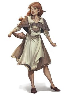 f npc Half Elf Inn Keeper urban City by Charlie Bowater lg Female Character Inspiration, Fantasy Character Design, Character Creation, Fantasy Inspiration, Character Drawing, Character Concept, Fantasy Rpg, Fantasy Women, Medieval Fantasy
