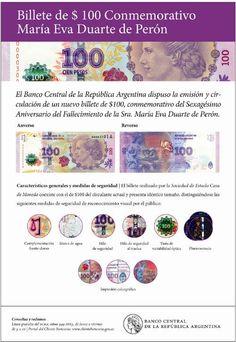 Ya están en plena circulación los billetes de 100 pesos con la imagen de Eva Perón - Profesiones ON-LINE