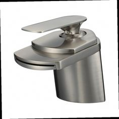 42.09$  Watch now - http://alio09.worldwells.pw/go.php?t=32384884098 - Free Shipping Brushed Nickel Basin Sink Faucet Deck Mount Waterfall Hot and Cold Water Bathroom Mixer Taps 42.09$
