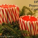 Make Peppermint Stick Candles