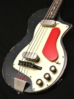 A weird old bass for sure. It has a toy-like quality about it which is very appealing. Vintage Bass Guitars, Custom Bass Guitar, Vintage Electric Guitars, Custom Guitars, Guitar Chords, Acoustic Guitar, Guitar Art, Guitar Exercises, Unique Guitars