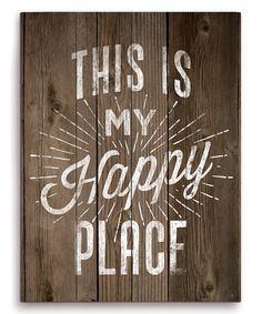 'This Is My Happy Place' Wall Art