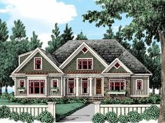 Cottage House Plan with 2469 Square Feet and 4 Bedrooms from Dream Home Source   House Plan Code DHSW53529