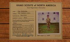 Sam Shakusky Scout Registration – Moonrise Kingdom