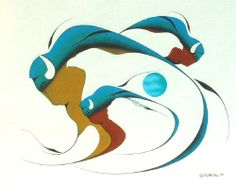 Buffalo and Eagle Spirit, Isaac Bignell, Cree (Manitoba) Native American Symbols, Native American Artists, Woodland Art, Haida Art, Southwest Art, Artwork Display, Indigenous Art, Aboriginal Art, Native Art