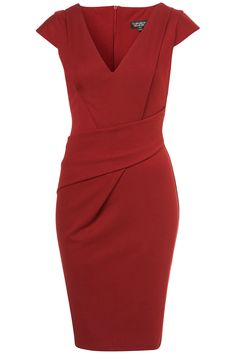This cherry v-neck ponte pencil dress may be fantastic but I suspect only those with a wonderful hourglass body can carry it off. Passion For Fashion, Love Fashion, Fashion Beauty, Womens Fashion, Fashion Design, Hourglass Dress, Hourglass Body, Hourglass Figure, Corporate Attire
