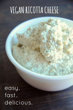 How to Make Vegan Ricotta Cheese - Would you believe that this ricotta cheese has not a single shred of dairy in it? It's true! You can make homemade ricotta cheese WITHOUT dairy, and it tastes just as good (if not better) than the dairy-laden stuff!