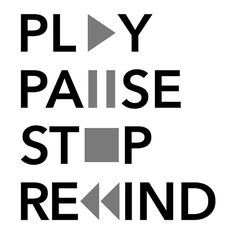 'Play Pause Stop Rewind' T-Shirt by Marcos Santos - chill gevoel - Play Pause Stop Rewind - Dark Art Drawings, Easy Drawings, Bullet Journal Ideas Pages, Art Journal Pages, Typographic Logo, Typography, Doodle Play, Drawing Quotes, App Logo