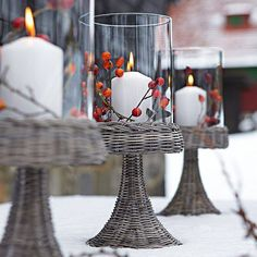 outdoor hurricane candle holders | love for all seasons