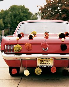 Get Away Car Giddiness :  wedding decor diy oakland tutorial Mwa1027