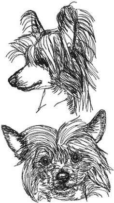 Chinese Crested Set  @ www.advanced-embroidery-designs.com