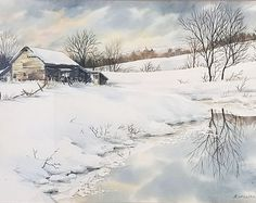 Beautiful winter farm scene... a helpful reference tool to explain what snow was to future generations.