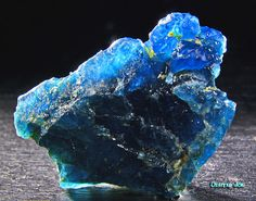Neon Blue Apatite, bright, bold and beautiful.  Perfect for summer jewelry, (when cut of course)
