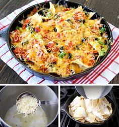 Pizza de nachos / http://tastykitchen.com/