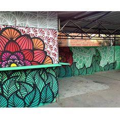 Shared by: on Aug 2015 @ – Graffiti World Graffiti Art, Murals Street Art, School Murals, Best Street Art, Wall Drawing, Mural Wall Art, Art Graphique, Street Artists, Mandala Art