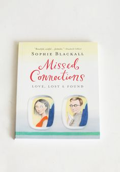 """Missed Connections: Love, Lost & Found Book  13.99 at shopruche.com. """"It happens in laundromats. On subway cars. At ice skating rinks and bookstores."""" , , Infused with love and mystery, the award-winning artist Sophie Blackall, illustrates stories of """"what if?"""" with beautiful paintings and few words. , , Workman Publishing , Paperback , 9'' X 7''"""