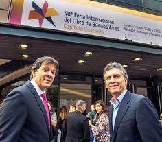 En la Nº 40 edición de la Feria Internacional del Libro con el alcalde de San Pablo, Fernando Haddad.