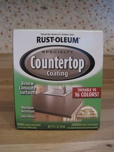 countertop painting kit. Wonder if this is the quick solution to my orange countertops :(
