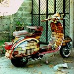 Vespa/ Taken with Agfa Agfamatic 3008 in Thailand