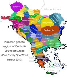 Proposed genetic divisions of Central and Southeast Europe - One Family One World DNA Project European History, Ancient History, The Old Curiosity Shop, Science Room, Dna Project, Old World Maps, Alternate History, Flags Of The World, Us Map