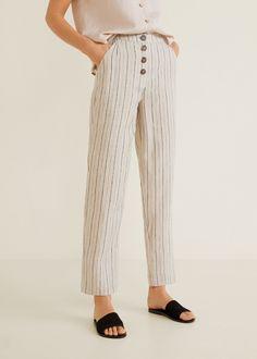e48a43a69 7 mejores imágenes de Pantalones lino en 2017 | Pantalones de lino ...