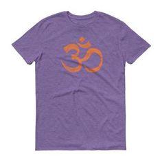 Om Ohm Yoga Symbol Distressed ORANGE Short-Sleeve T-Shirt