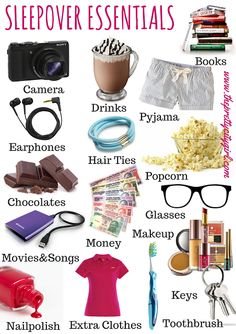 The Pretty City Girl: Sleepover Essentials