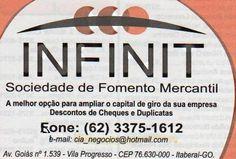 Eu recomendo  Infinit Fomento Mercantil- Vila Progresso, #Itaberaí, #Goiás…
