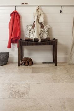 - travertine rectangular flooring- new flooring option for downstairs??