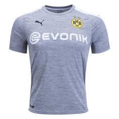 Borussia Dortmund 3rd Soccer Jersey 17/18 This is the Borussia Dortmund 3rd Football Shirt for 2017 2018.  The Borussia Dortmund 17-18 third kit was given a surprise launch this afternoon in the club's official online store. The BVB 2017-2018 third jersey introduces a fashionable design in heather grey, black and white. The Dortmund 2017-18 third […]