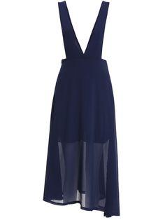 Straps With Zipper Chiffon Dress 10.67