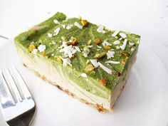 Raw Vegan Gluten-free Dairy-free No-Bake Kiwifruit Vanilla Slices Cake Recipe
