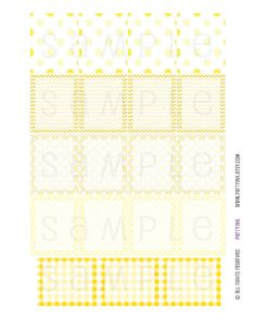 Monthly Planner Stickers  Full Box Yellow Sampler Of by partyINK  #erincondren