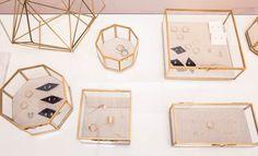 Catherine Smith Talks Online Shopping Destination Plan de Ville: Glass Display Case with Gold accents   coveteur.com