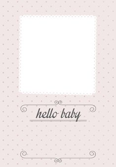 Classic Pink Dotted - Free Printable Birth Announcement Template | Greetings Island