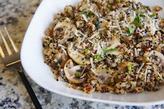 Looking for an easy quinoa dish that's equally delish? Try our Mushroom Garlic Quinoa featuring our Tri-Color Quinoa.