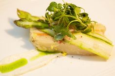 Halibut with ramps, fennel, green olives, and Pernod butter, prepared by chef Matthew Gennuso - April 30 (Photo by Joan Garvin)
