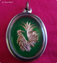 REAL CHICKEN COCK AMULET HOLY LUCKY RICH CHARM COOL PENDANT