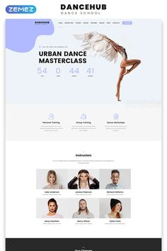 This HTML template has valid code, elegant design and wide functional. It was developed for dance schools and dance clubs. Landing Page Html, Landing Page Examples, Best Landing Pages, Landing Page Design, Html And Css Templates, Education Templates, Landing Page Best Practices, Web Design Mobile, Interface Web