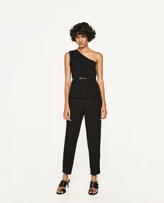 Image 1 of LONG ASYMMETRIC JUMPSUIT from Zara